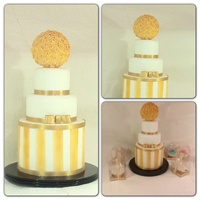 Gold Double Barrel Cake dummy done for a display