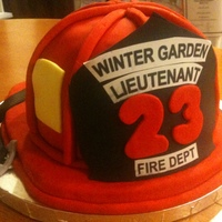 Fireman's Retirement Cake   I was looking forward to making this cake - turned out easier than I thought - all edible. I used a bowl for the actual hat.