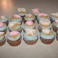 Seashell Beach Themed Cupcakes