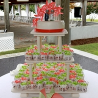 Pinwheel Cupcakes And Wedding Cake