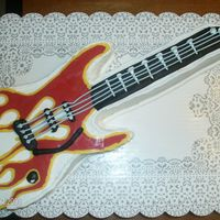 Electric Guitar BC covered electric guitar, made flames with melted candy