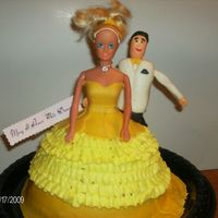 May I Have This Dance? Traditional Barbie cake added a Fondant Fellow at her side ready to sweep her off her feet at the ball.