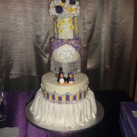 Penguin Royalty   Penguins are gumpaste. Lots of bling on this cake
