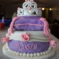Princess Cake My inspiration came from the tutorial here on CC for the pillow cake. Cake is dark chocolate filled with malt ball buttercream. Tiara is...