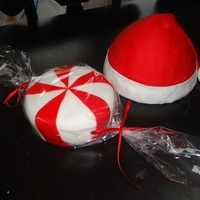 Christmas Cakes Santa Hat and Mint