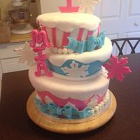 Topsy Turvybuttercream With Fondant Decorations *Topsy Turvy..Buttercream with fondant decorations