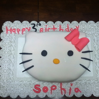 This Was Made For My Daughters 3Rd Birthday She Loves Hello Kitty All Done In Fondant Cake Was Hand Carved Made A Stencil And Shaped Inste... This was made for my daughters 3rd birthday. She loves hello kitty all done in fondant cake was hand carved made a stencil and shaped...