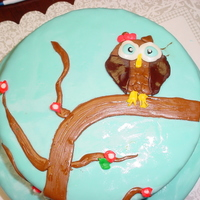 Owl Birthday Cake   I made this for my daughters 1oth birthday, Everything is done in fondat. Was pretty easy to do.
