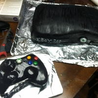 This Was For My Sons 7Th Birthday He Wanted A Xbox Cake And Controller All Done In Fondant   This was for my sons 7th birthday he wanted a xbox cake and controller all done in fondant.