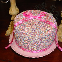 My Daughters 11Th Birthday Cake Has Buttercream Underneath And Folled In Non Perils Sprinkles Just Took A Piece Of Ribbon And Tied It For... My daughters 11th birthday cake has buttercream underneath and folled in non perils sprinkles just took a piece of ribbon and tied it for...