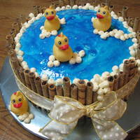 Rubber Ducky In The Tub Baby Shower Cake Thanks to bluedragonfly for the idea on this cake. I realized after I made the cake that it probably should be made with smaller pans (I...