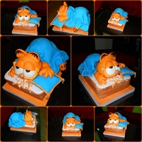 Garfield Cake Cake for my friend's son, birthday party.