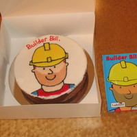 Bill The Builder First attempt at flooding. I used black icing as an out line and piped directly on to the fondant. This helped to stop the colours from...