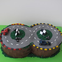 Race Track Cake This cake was for my youngest son who is working towards memorising the Quran. What a disaster!!! I gave my self a day to make this cake, (...
