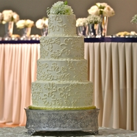 Smbc Wedding Cake The design of this cake matched the design on the bride's dress