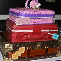 Luggage Wedding Cake The theme was around they world and the bride and groom really wanted luggage... this is what I came up with.