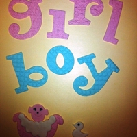 Boy, Girl, Baby Bath   Playing with my new cutters!! Made from gumpaste