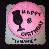 Irmarie   Vanilla cake with buttercream and gumpaste decoration and letters.