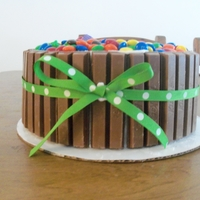 Kit Kat And M&m Sponge Cake With Buttercream