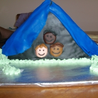 Tent Cake Boy Scout Blue & Gold ceremony cake sold for $45 at auction.