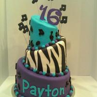Musical Notes Topsy Turvy Caek