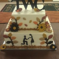 Fall Theme Bridal Shower Cake