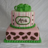 Baby Safari Cake   For a first birthday. Cake was made to coordinate with invitations.