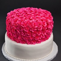 Carnation Cake This cake has almost 200 Sugar Carnations on it.