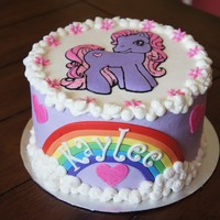 My Little Pony For my friend's sweet little girl... I love that My Little Pony has made a comeback- I loved them as a kid! Strawberry cake iced in...