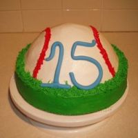15Th Birthday Baseball cake for boy turning 15. Was also his baseball jersey. One of my favorite cakes so far.