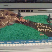 Construction Cake Part Deux Second paid order! This one for a first birthday.