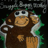 Monkey Cake For my youngest daughter...our little snuggle buggy monkey