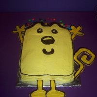 Wow Wow Wubbzy Made the arms, legs, and tail out of yellow tinted chocolate