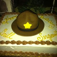 Drill Sargent Birthday Cake This birthday cake was made for a young lady who managed things very well and was given the nick name drill Sargent. 3-d drill Sargent hat...