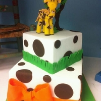George The Giraffe Baby shower cake for our display at new bakery