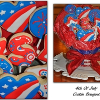 July 4Th Cookie Bouquet   Sugar cookies.