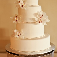 Simple Elegance This 4 tier round wedding cake was everything bride wanted: simple , elegant, timeless beauty