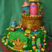 Candy Land Cake Candy Land Birthday cake with all towers, characters, decorations 100% edible.