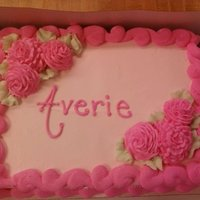 Averie's Cake Done in whipped icing.