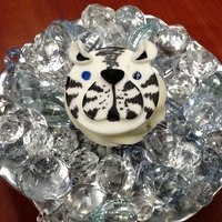 White Tiger Cupcakes For coworker.