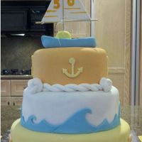 Sail Boat Cake Sailing Theme for friends 50th Birthday.
