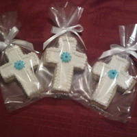 Baptism Crosses-Flower NFSC, Fondant, Royal Icing detail