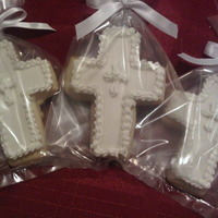 Baptism Crosses NFSC, Fondant and Royal Icing Details