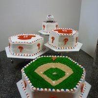 Phillies Wedding Cake