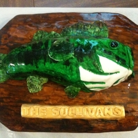 "Fish On A Wall Plaque   ""Plaque"" , fish and name plate all covered and hand painted mmf. Thanks for looking"
