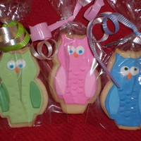 Owl Sugar Cookies These are sugar cookies covered with fondant.