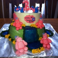Hippo And Bird Cake ...it Mached The Invitations