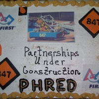 Robotics Team Cake   Cake for PHRED, Philomath High School Robotics team. Buttercream. Fondant accents. Edible images.