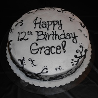 Wasc Cake With Buttercream Icing Black And White Parisian WASC cake with buttercream icing. Black and white Parisian