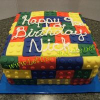 Lego Block a fun cake to do but it took longer to put the little circles on the legos than it did to apply the legos themselves. The birthday boy love...